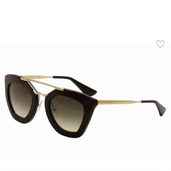 114937239b2 Prada • Black Acetate Cat Eye Sunglasses • NIB